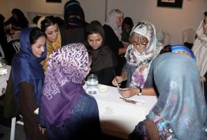 Kalligrafieworkshop Iranische Kunstakademie Teheran