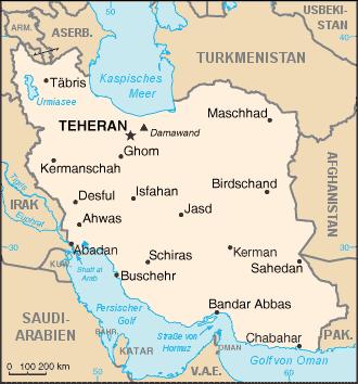 Persien Karte.Landkarten Iran Wissen De