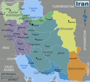 Landkarte Iran (Public Domain)