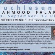 Buchlesung mit Mahmood Falaki am 13.09.2018