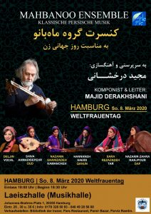 Mahbanoo Ensemble - Klassische persische Musik @ Laeiszhalle (Musikhalle)